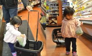 shopping for fresh ingredients
