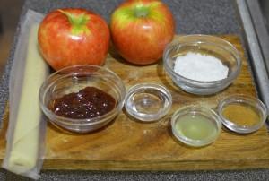 Baked apple roses ingredients